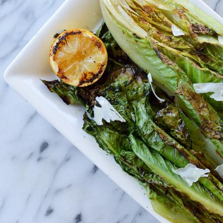 Simple Grilled Romaine Salad