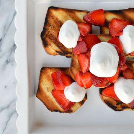 Grilled Strawberry Shortcake