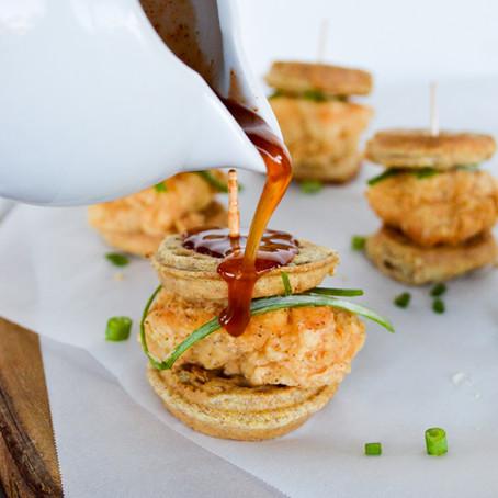 Mini Chicken & Waffle Sliders
