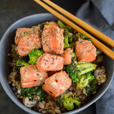 Wild Salmon Rice Bowls