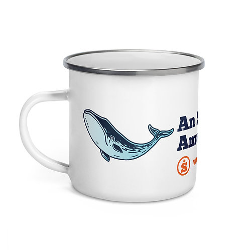 The Great Outdoors Whale Enamel Mug