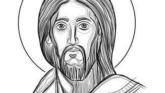 2018 Jesus Pantocrator trazo digital