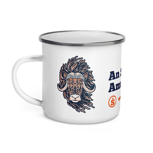 The Great Outdoors Bison Enamel Mug