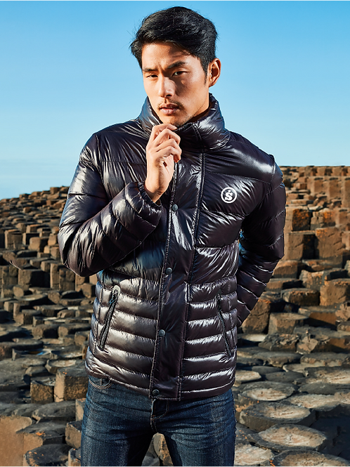 Men's Sásta Wear Black Sloper Padded Jacket
