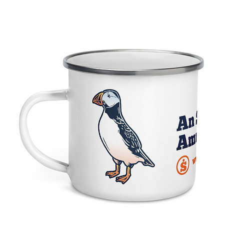 The Great Outdoors Puffin Enamel Mug