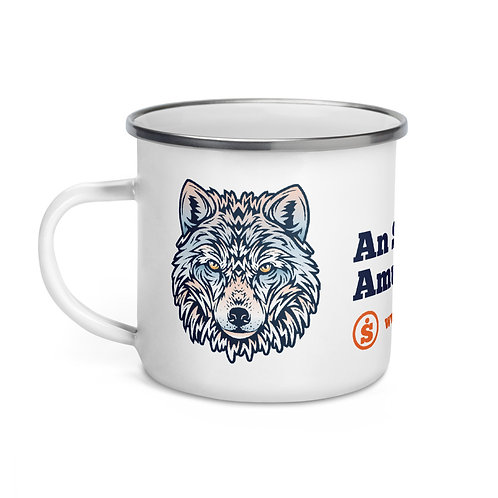 The Great Outdoors Wolf Enamel Mug