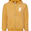 Thumbnail: Tírghrá Luxury Mustard Unisex Sueded Fleece Embroidered Hoodie