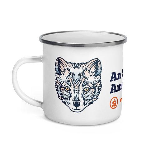 The Great Outdoors Cat Enamel Mug