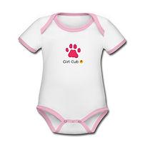 Organic Baby Contrasting Bodysuit Girl C