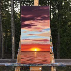 Ocean Sunset by Daina Deblette