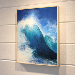 Encaustic Blue Wave by Daina Deblette.jpg