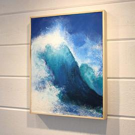Encaustic Blue Wave by Daina Deblette.jpg