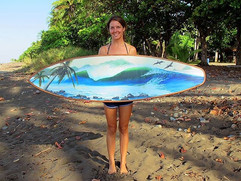 Painted Surfboad by Daina Deblette