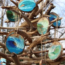Mini Wave Ornaments by Daina Deblette