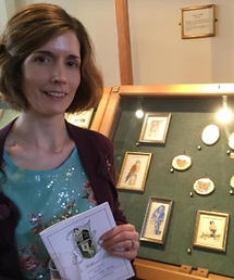 Mandy exhibiting with the Hilliard Society of Miniaturists