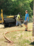 Men on jobsite for underground cable construction