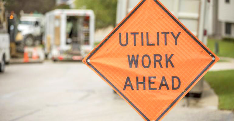 Utility Work Road Sign for Georgia Underground Construction