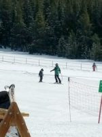My Boy on the bunny slope with his amazing ski instructor, Pamela, at Ski Cooper Resort.