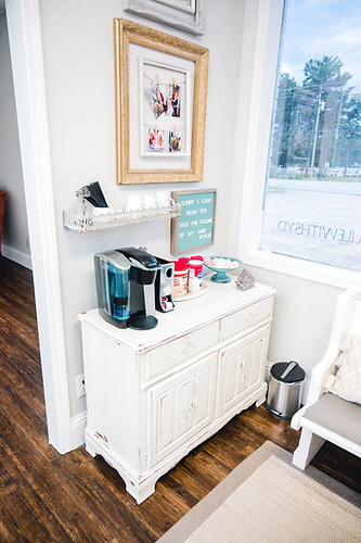 Grab a coffee on your way into Sydeny's Shoppe of Beauty