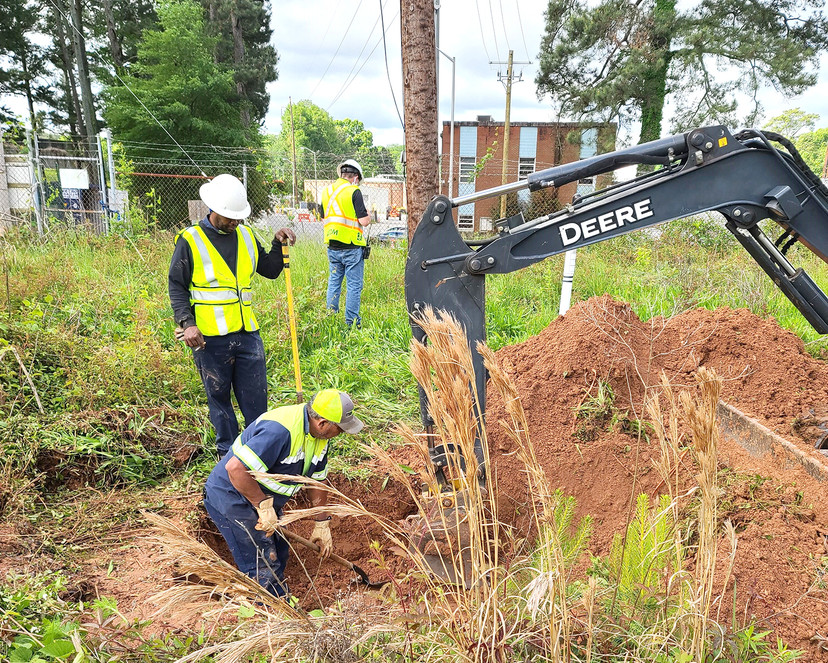Underground cable construction installed by Shiflett Enterprises employees