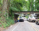 Men and equipment installing underground services by Shiflleltt Enterprises
