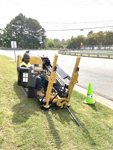 Shiflett Enterprises, Inc. on Directional boring drill in Georgia.