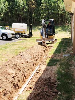 Shiflett Enterprises, Inc. equipment on an underground cabling job