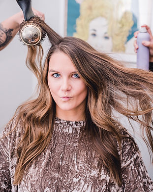 Madison Hodge getting her hair done at Sydney's Shoppe of Beauty
