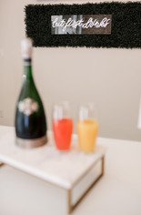 Mimosas at Sydney's on First Blow Dry Salon & Lounge