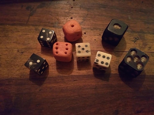 Dice- Horn, Clay, Bone or Skull Die