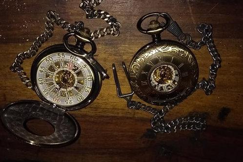 Brass Mechanical Pocket Watch