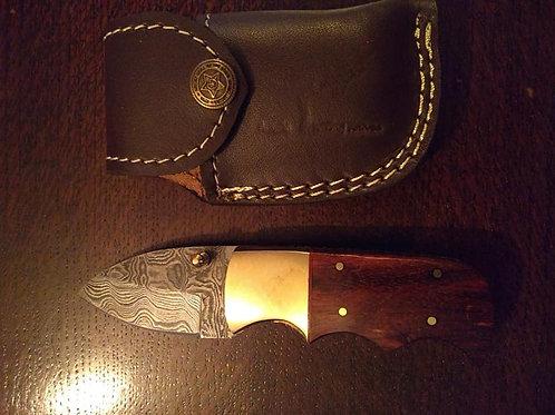 Folding Lock Knife Brown Handle