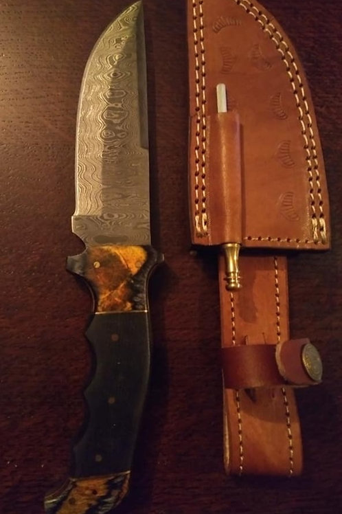 Bushcraft Burnt Bone and Buffalo Handle
