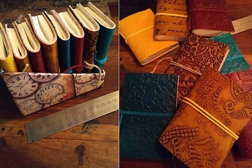 Small leather bound books