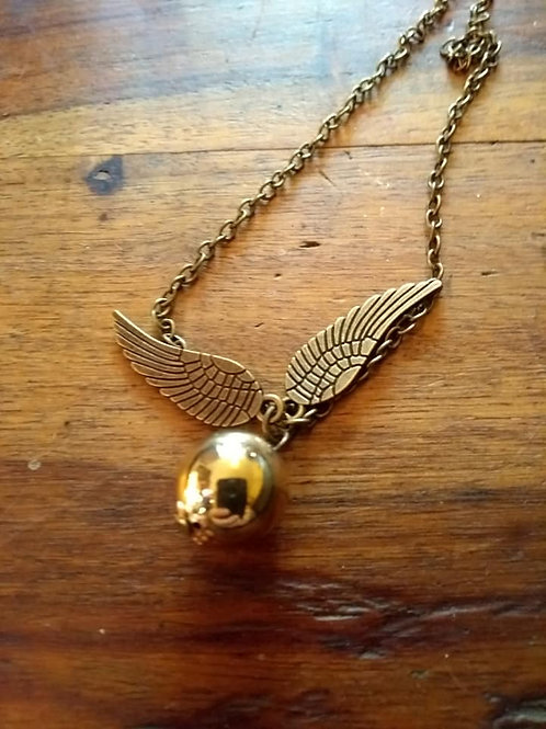 Harry Potter Golden Snitch Pendant