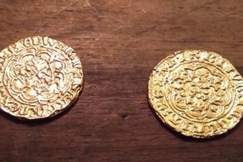 Edward 3rd Quarter Noble Gold plated coin 1327-1377