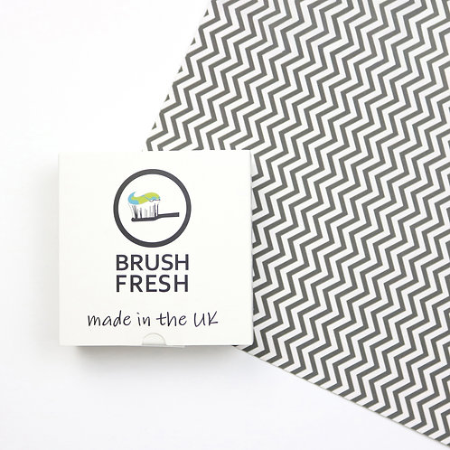 a packet of brush fresh toothpaste tablets