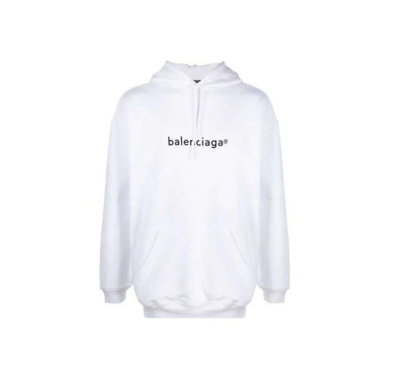 New Copyright relaxed-fit hoodie