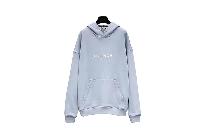 Givenchy Baby Blue Logo Hoodie