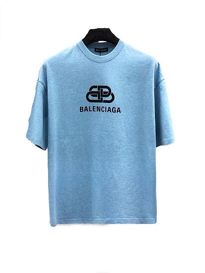 Balenciaga BB Logo Tee Sky Blue