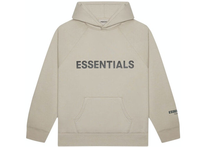 Fear of God ESSENTIALS 3D Silicon Applique Pullover Hoodie String