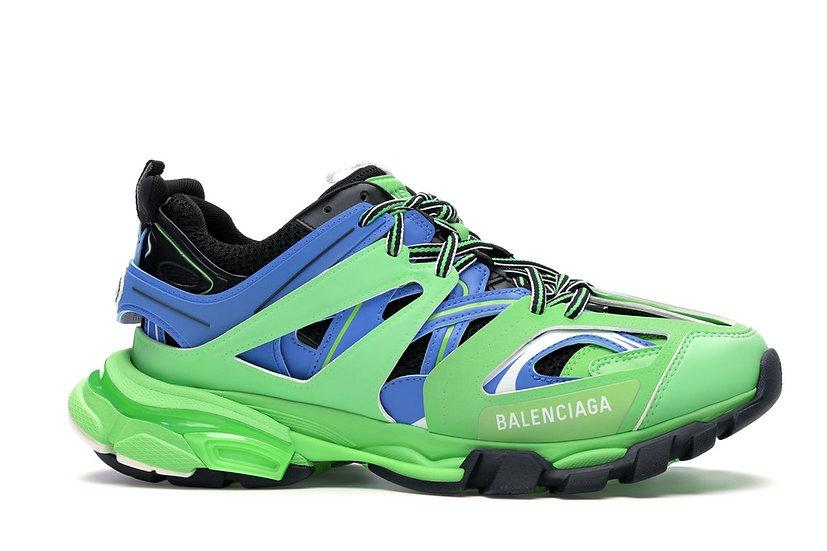 Balenciaga Track Trainers Green Blue