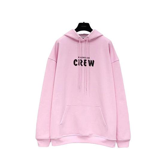 Balenciaga Crew Hoodie Pink