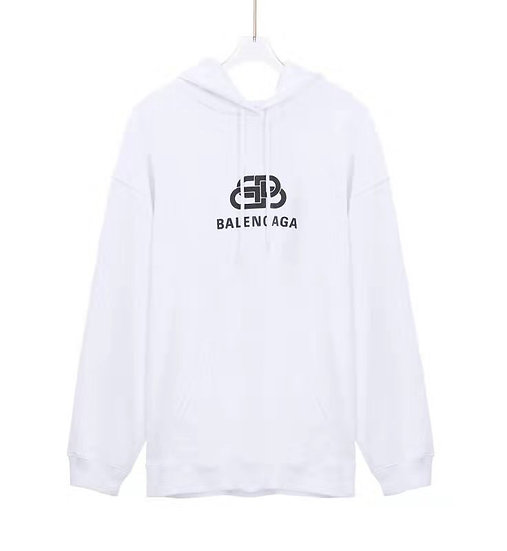Balenciaga BB Logo Hoodie White
