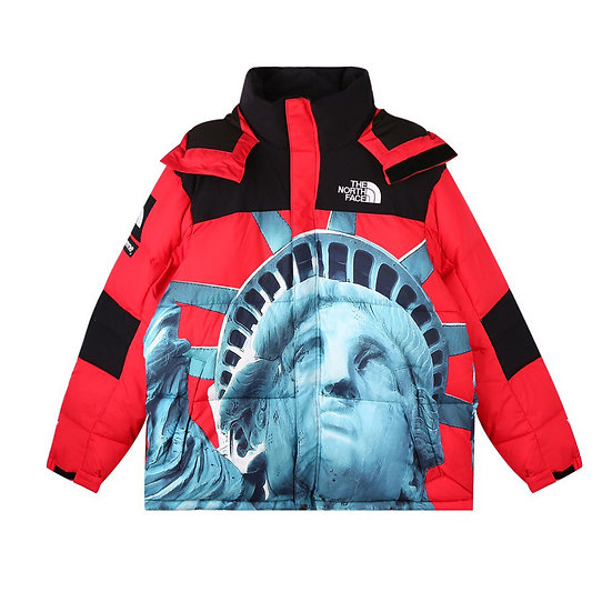 SUPREME x The North Face Statue of Liberty Beltoro Jacket Red