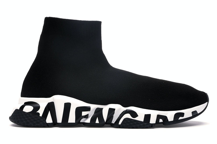 Balenciaga Speed Graffiti Trainers Black White