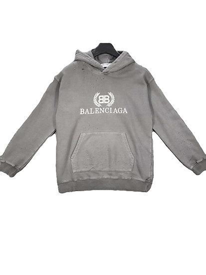Balenciaga Dusted BB Logo Grey Hoodie