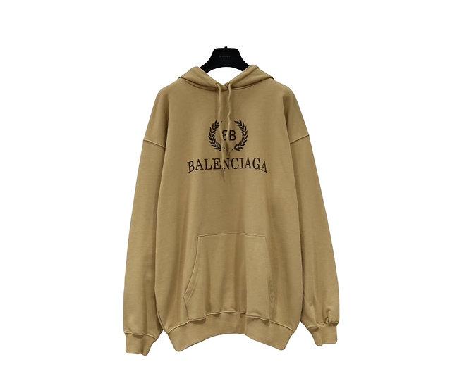 Balenciaga Crest Logo Hoodie Brown