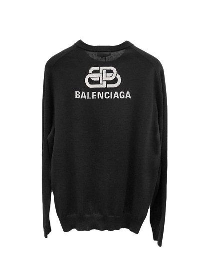 Balenciaga BB Logo Sweatshirt Black
