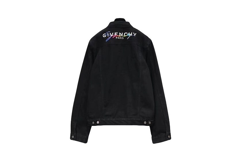 Givenchy Logo Embroidered Denim Jacket
